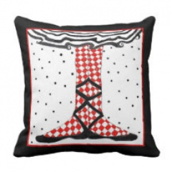 ballet first position throw pillow