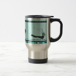 pilates on the go metallic travel mug