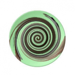 mint chocolate swirl plate
