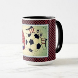girls soccer stamp mug