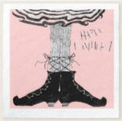 happy birthday ballerina witch cocktail napkins