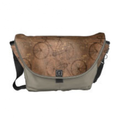distressed vintage bike messenger bag