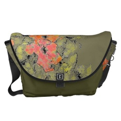 wildflowers messenger bag front view