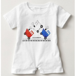 red white and blue caboose baby romper