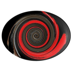 chocolate peppermint swirl porcelain platter