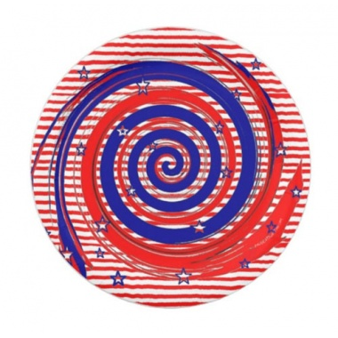 red White and Blue Stars and Stripes Swirl