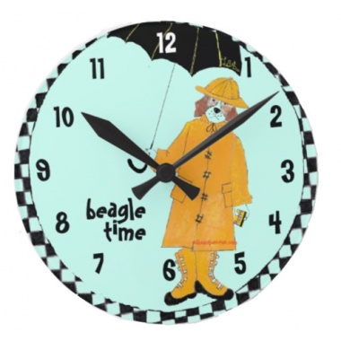 Around Beagle Time Wall Clock