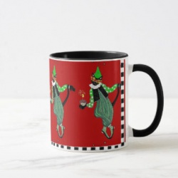 jester cat birthday mug