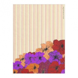 colorful flower pinstripe fleece blanket