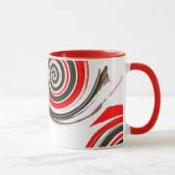peppermint chocolate swirl coffee mug