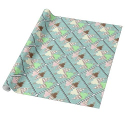 ice cream cone glossy wrapping paper