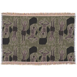 graphic modern dancers throw blanket