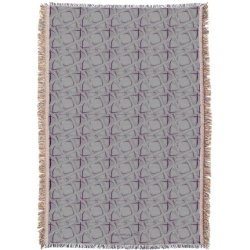 eggplant and gray abstract contemporary throw blanket