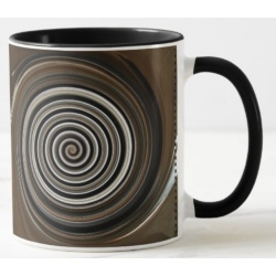 coffee and cream swirl mug