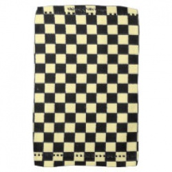 yellow and black checkerboard kitchen towel