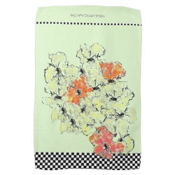 wildflowers shabby chic kitchen towel