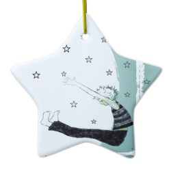 reach for the stars ceramic ornament back view