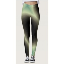 diffusion of green light fashion leggings front view