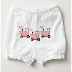 pink caboose baby bloomers front