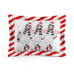 Santa Beagles pillow sham