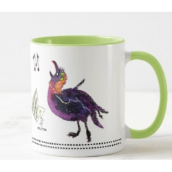 Opera Singing Crow Coffee Mug