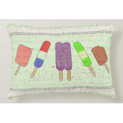 Parade of Popsicles Festive Accent Pillow