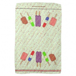 Full view of open popsicle towel