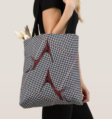 woman carring tote bag
